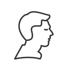 man profile line icon sign vector image