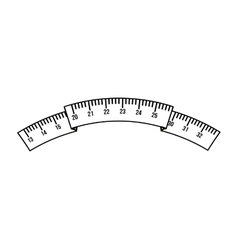 tape measure isolated icon design vector image
