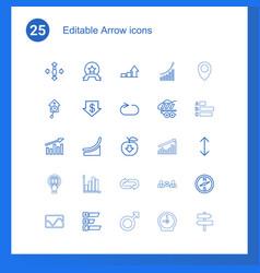 25 arrow icons vector