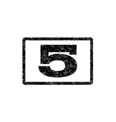5 watermark stamp vector image