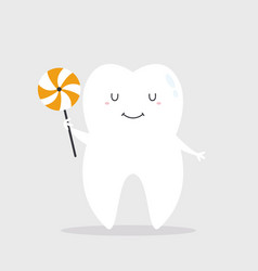 A happy smiling tooth vector