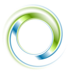Abstract bright blue green ring logo vector