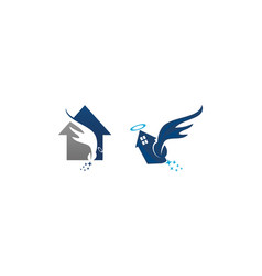 Angel home wings set vector
