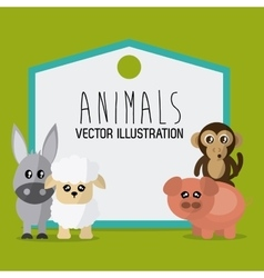 Animals cartoon design vector image