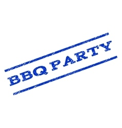 BBQ Party Watermark Stamp vector