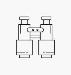 Binoculars find search explore camping line icon vector