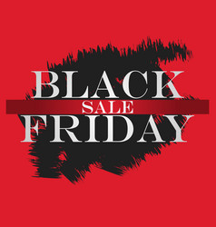 black friday sale banner black friday design vector image