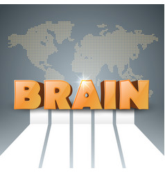 Brain 3d business infographics vector