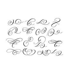 brush calligraphy swirls and flourishes set vector image