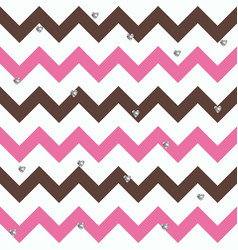 bubblegum chocolate zigzag pattern with small vector image