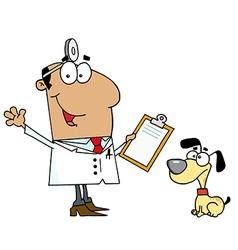 Cartoon vet vector image