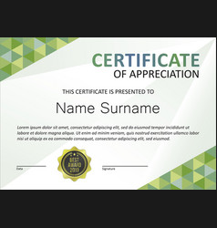 certificate modern template vector image