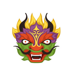 Colorful dragon head symbol of chinese vector