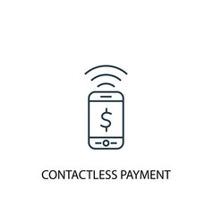 contactless payment concept line icon simple vector image