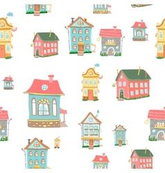 Cute cartoon houses vector image vector image