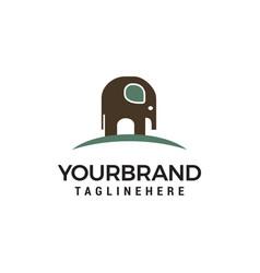 elephant logo design concept template vector image
