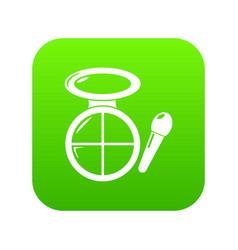 Face powder multicolor icon green vector