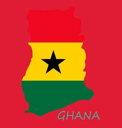Flag map ghana vector