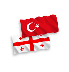 Flags turkey and georgia on a white background vector
