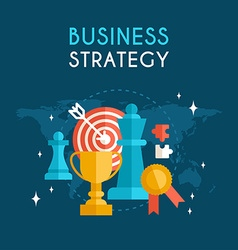 Flat Design Business Concept Business Strategy vector image