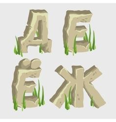 Four letters russian alphabet vector
