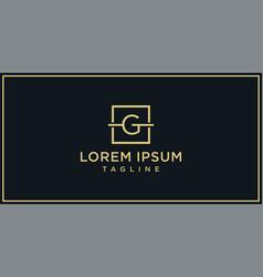 g elegance logo vector image