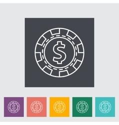 Gambling chips vector image
