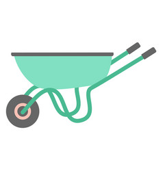 Garden trolley isolated on white flat design vector