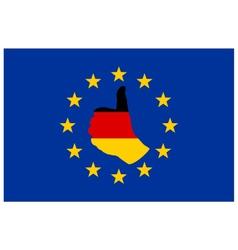 German finger signal in Europe vector image