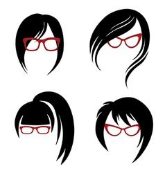 Girl glasses 1 2 vector