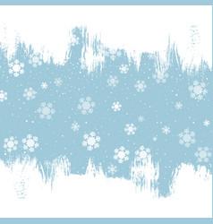 grunge christmas snowflake background vector image