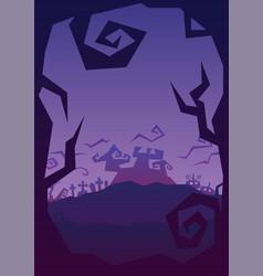 Halloween party roughen purple gradient greeting vector