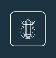 harp icon line symbol premium quality isolated vector image