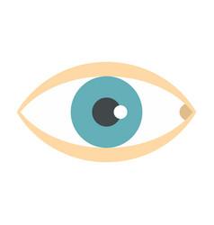 healthy eye icon flat style vector image