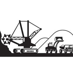 Heavy mining machinery vector