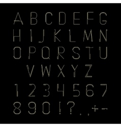 Hipster linear font alphabet vector image