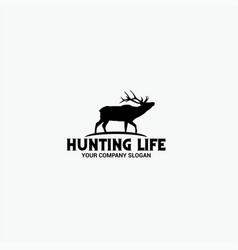 Hunting life logo vector