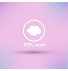 Icon of 100 percent wool Isolated vector
