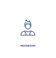 Indonesian concept 2 colored icon simple line vector