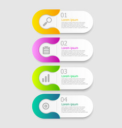Infographic elements layout 4 steps vector