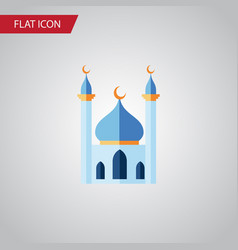 Isolated islam flat icon structure element vector