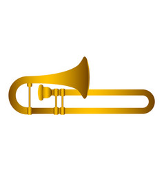 Isolated trombone musical instrument vector