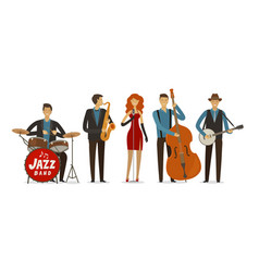 jazz band blues music musical festival concept vector image