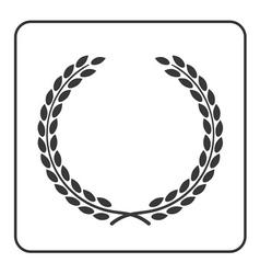 laurel wheat wreath symbol victory achievement vector image
