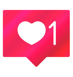like and heart love icon vector image