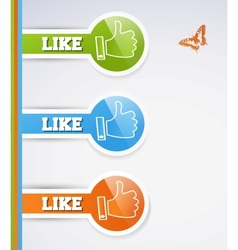 Like icons vector image