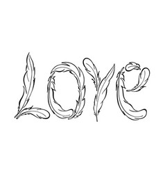 love lettering hand drawn vector image