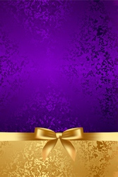luxury background with gold bow vector image