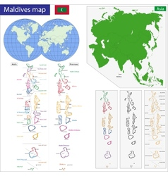 Maldives map vector image