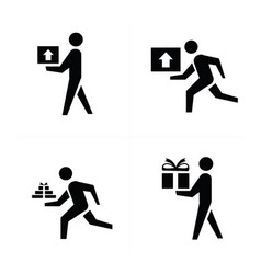 Man courier icon design vector